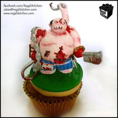 DOTA 2 Cupcake   Defense of the Ancients Pudge Cupcake   Gaming Cupcake   Cakes by The Regali Kitchen