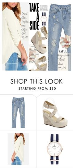 """Street Style with Zaful"" by pokadoll ❤ liked on Polyvore featuring Anja"