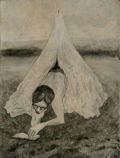 Hans Lemmen, sin título, Tinta sobre papel 31,5 x 24 cm.