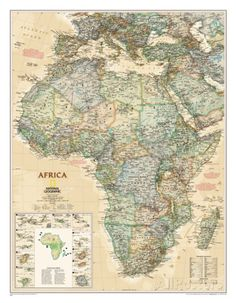 National Geographic Africa Map, Executive Style Prints at AllPosters.com