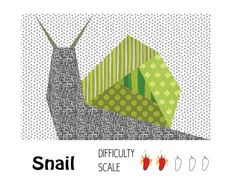 Snail Paper Pieced Quilt Block pattern $2.00 on Craftsy at http://www.craftsy.com/pattern/quilting/home-decor/snail-paper-pieced-quilt-block/49175