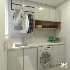 Laundry Room Remodel, Laundry Room Cabinets, Laundry Room Organization, Laundry Room Design, Clinic Interior Design, Modern Interior Design, Balcony Design, Modern House Plans, Apartment Interior