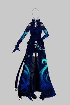 Outfit design - 193 - closed by LotusLumino Anime Outfits, Dress Outfits, Cool Outfits, Dress Drawing, Drawing Clothes, Mode Kawaii, Anime Dress, Fashion Art, Fashion Design