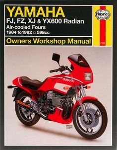 Haynes M2100 Repair Manual for 1984-90 Yamaha FJ600 / FZ600 / XJ600 / YX600
