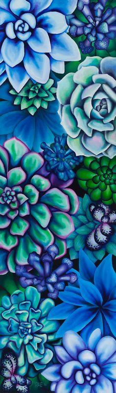 ideas for succulent painting acrylic artists Silk Painting, Painting & Drawing, Painting Inspiration, Art Inspo, Succulents Wallpaper, Flower Art, Amazing Art, Cool Art, Art Projects