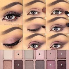 Here's how I achieved today's eye, using the @maybelline The Blushed Nudes palette! All brushes used were @sigmabeauty. 1. First, apply a wash of this dusty rose matte color across the entire lid with a flat shader brush. I used the E59 Wide Shader brush, then blended it into the crease and under the lower lash line with a fluffy brush. 2. To the outer half of the lid, apply this deeper brown shade, making sure not to extend the color past the outer corner. Also blend into the outer lower…