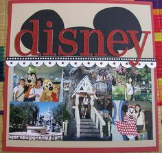 Disney scrapbook layout- Love the ears on this one!