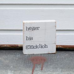 """Hochzeitsgeschenk """"heiter bis glücklich"""""""