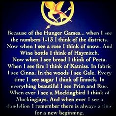 Because of The Hunger Games...
