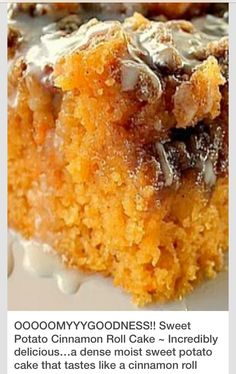 Sweet Potato Cinnamon Roll Cake! #tipit