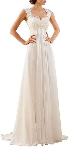 Wedding Dress Chiffon, Buy Wedding Dress, Wedding Dress Sizes, Lace Chiffon, Chiffon Dresses, Dresses Dresses, Gown Wedding, Casual Dresses, Short Dresses