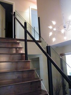 tempered glass staircase railing - Google Search