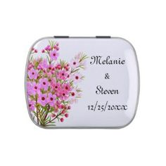 Floral Bridal Mint Tin, #bridalfavors #mints #floral