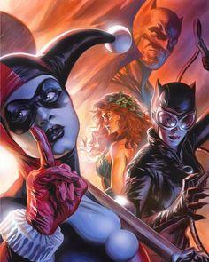 12.8 тыс. отметок «Нравится», 14 комментариев — The Geek Realm ✌🤓 (@thegeekrealm) в Instagram: «Gotham City Sirens by Felipe Massafera @felipemassafera #HarleyQuinn #Catwoman #PoisonIvy #Batman…»