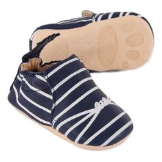 Chaussons Cuir Blumoo Marin-product