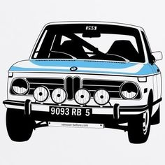 BMW 3 Rally Organic T Shirt