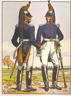 French; 4th & 5th Cuirassier Regts, Officeiers, Grande Tenue a Pied, 1813