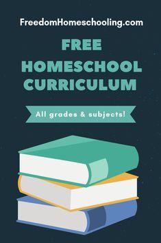 Free Homeschool Curriculum | Freedom Homeschooling Kindergarten Homeschool Curriculum, Homeschool Curriculum Reviews, Curriculum Planning, Homeschooling, Lesson Planning, Home School Curriculum, School Resources, Classroom Libraries, School