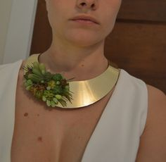 Succulent necklace. Great alternative to wedding corsages, or boutonnieres