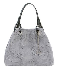 """Another great find on #zulily! Grigio  Leather Hexagon Hobo #zulilyfinds…also in """"jeans"""""""