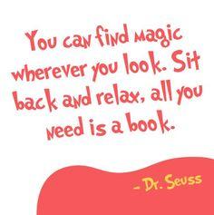 Magic in books #Dr Seuss #quotes #citat