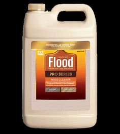 Flood® Flood® Pro Series Wood Cleaner removes dirt and mildew stains to restore the natural look of wood, concrete, composites and other surfaces.