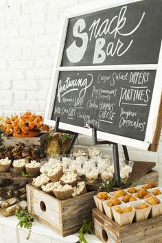 A snack bar is essential for guests to go to throughout the night. An assortment of snacks to fit everyone's taste buds.