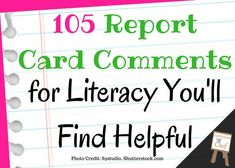 Writing report card comments doesn't have to be a time of dread! I've complied an awesome list of 105 meaningful reading and writing report card comments along with a special tip that will make the process a little easier for you!