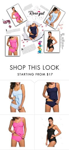 """""""Win $20 Cash from Rosegal!"""" by slavka-jovic ❤ liked on Polyvore featuring Avon, love, rosegal, Summer_colors and Push_up_Twist_Tankini_Set"""