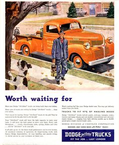 Dodge Trucks Job Rated Worth Waiting For | Mad Men Art | Vintage Ad Art Collection