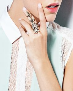 Floral Fantasy Ring -full finger ring. cool