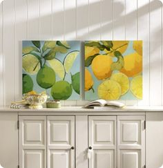 Fresh Limes & Lemons from Ballard Designs. The lemon print was in Lily and Marshalls apartment! Definitely painting this!