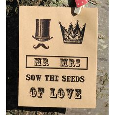 Mr and Mrs Seed Packet Wedding Favour