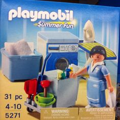 Umm ... Summer fun = housekeeping? I think not. #playmobil #fail
