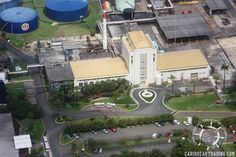Aerial views of the Bacardi Factory in Cataño.  It is the world's largest premium rum distillery, producing over 40,000 gallons daily.  You can take a free tour with free drinks – open daily.