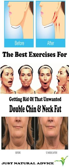 The Best Exercises For Getting Rid Of That Unwanted Double Chin & Neck Fat