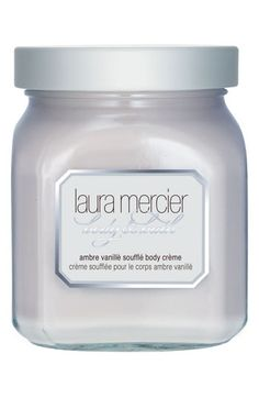 Laura Mercier 'Ambre Vanillè' Soufflé Body Crème available at #Nordstrom  You literally smell like vanilla cake batter!!! I can't wait for them to make the hand cream!! :D