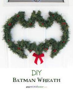 DIY Batman Wreath from Our Nerd Home