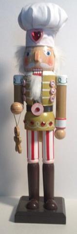 "Decorative Gingerbread Man - Cookie Baker - Nutcracker 15"""