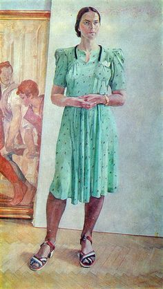Portrait of a Woman. 1944 year Oil on canvas Alexander Deineka Female Portrait, Portrait Art, Female Art, Woman Portrait, Art Sur Toile, Francis Picabia, Soviet Art, Best Portraits, Painting People