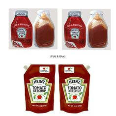 Ketchup-- cut the label off and use