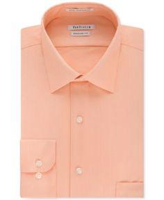 Van Heusen Wrinkle Free Herringbone Solid Dress Shirt | macys.com
