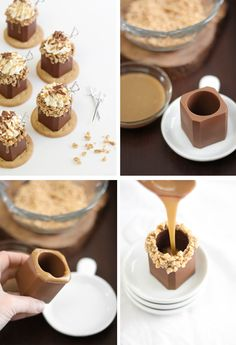 Sprinkle Bakes: Butter Toffee Candy Bar Shots in Edible Chocolate Shot Glasses