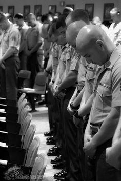 Saying a Prayer.  What a beautiful sight!