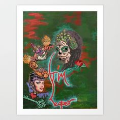 Night of the Dead Art Print by Icelandria - $14.56