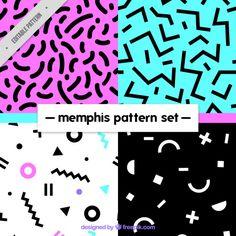 Variedad de patrones abstractos Vector Gratis