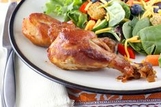 Crockpot Barbecue Chicken - excellent chicken recipe, shortened broiler finish time to just enough to get the BBQ sauce tacky to the chicken.