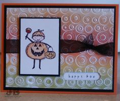 cuttlebug card - very interesting effect with different color inks.