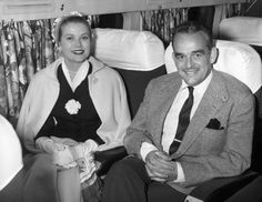 Grace & Family:  Princess Grace and Prince Rainier off toStockholm, Sweden. 1957.