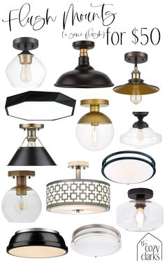 I don't know why anyone is still putting boob lights in their homes when there are so many good looking, budget-friendly options for flush mounts. Pantry Lighting, Hallway Lighting, Flush Mount Lighting, Home Lighting, Lights For Hallway, Hallway Light Fixtures, Home Reno, Interior Exterior, First Home